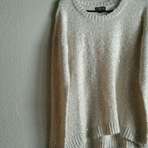 ONE A sequin sweater
